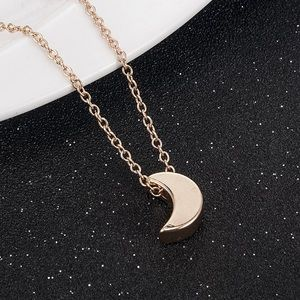 Jewelry - Gold Fulled Crescent Moon Minimalist Necklace